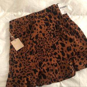 Forever 21 Leopard Slip Skirt Size Small